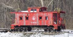 Chillicothe, Ohio (Bob McGilvray Jr.) Tags: wood railroad ohio red train private wooden farm tracks caboose cupola oh bo chillicothe baltimoreohio c1901