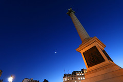 Trafalgar Square London UK (spencerrushton) Tags: old uk longexposure blue light moon colour london westminster night canon outdoors model walk wide trafalgarsquare bluesky lumiere spencer 1022mm londoncity manfrotto londonnight 2016 londonuk canonefs1022mmf3545usm canon1022mm rushton widelens canonl canonlens manfrottotripod spencerrushton 760d canon760d
