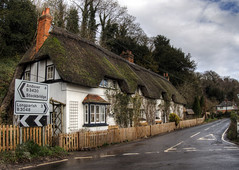 Shepards Cottage, Wherwell, Hampshire (neilalderney123) Tags: road architecture village cottage hampshire historical winchester hisrory anchient wherwell thatached 2016neilhoward