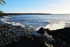 splash 3 (heartinhawaii) Tags: ocean sunset sea nature hawaii coast seaside rocks pacific tide shoreline maui splash oceansplash 808 lavarocks rockyshoreline ahihicove seasplash southmaui rocksandsea nikond3300 mauiinnovember ahihinaturereserve