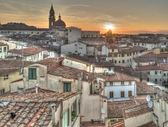 Rooftop view of Florence (So_Po) Tags: italy house architecture florence rooftops nopeople townscape oldtown rooftile buildingexterior