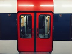 Train Doors (mattmoak) Tags: paris train doors gare quai rer sncf saintmichel portes transilien rerb