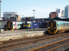 2 x 158 and a HST at Cardiff Central 30/1st/16 (berkoben13) Tags: wales cardiff trains class 150 arriva cardiffcentral class150
