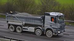 YJ15 FYB (panmanstan) Tags: truck wagon mercedes tipper motorway m18 yorkshire transport lorry commercial vehicle bulk langham haulage arocs