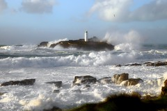 Stormy Seas (Tony Armstrong-Sly) Tags: sea lighthouse nature coast cornwall wind godrevy stormyseas winterstormsfebruary2016 stormswinter2016 stormimogen