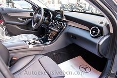 Mercedes-Benz C 220 BT Estate Avantgarde- S205 - 170c.v -  Gris Tenorita - Piel/Tela Negra