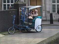 Broken Down (Deepgreen2009) Tags: street ladies london tricycle laughter rickshaw brokendown