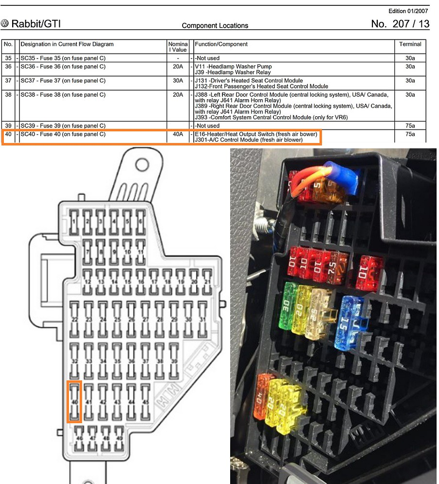 28 2007 Vw Gti Fuse Box Diagram