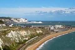 Dover (horstebertde) Tags: sea port coast meer harbour eisenbahn railway hafen havn dover steilkste hav kste kust kreidefelsen hamn jrnvg jernbane class375 doverwesterndocks 375elektrostar dovermaritime