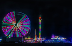 missing piece of the light pie (pbo31) Tags: california carnival winter light motion black color night dark oakland highway ride spin fair spinning butler ferriswheel eastbay annual traveling february alamedacounty 880 2016 lightstream boury pbo31 amuesments