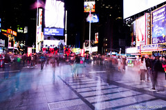 Busy Times (Masnoon H Zarif) Tags: life new york nyc people usa motion square time times selfish fluidity