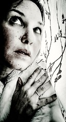 Grief (series) (IndiaDelphine1) Tags: monochrome face contrast dark pain fear conceptual grief photographyart artphotography