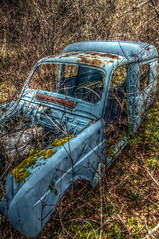 End of life for this car (Denis Vandewalle) Tags: blue nature car voiture renault pollution 4l hdr fer rouille frenchcar pentaxk5