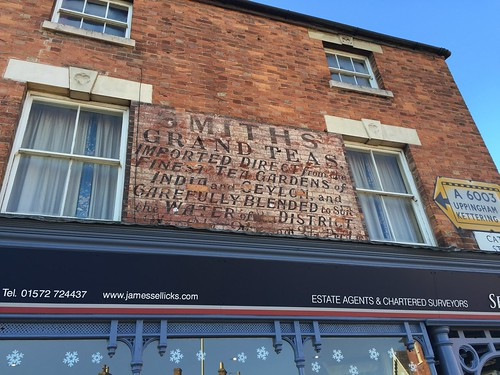 Ghost sign, 24 Catmose Street, Oakham