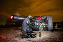 IMG_7525 Asalto a la Bateria de EL JOREL. Cabo Tioso (digsoto - Diego Soto) Tags: noche war guerra nocturna cartagena batera lightpaint asalto jorel