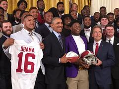 03-02-2016 Alabama Crimson Tide Championship Celebration at White House
