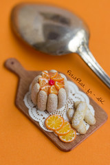 Miniature Orange Charlotte Cake (PetitPlat - Stephanie Kilgast) Tags: sculpture art cake cookie handmade polymerclay fimo cupcake pastry foodart realism miniaturecake miniaturefood oneinchscale sweetfoods 1to12 miniaturecookie