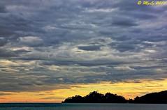 Silhouette (Maurizio Longinotti) Tags: sunset sea sky italy colors silhouette clouds italia tramonto nuvole mare rapallo liguria cielo colori portofino golfodeltigullio