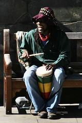 We're Jammin (tact1) Tags: uk man dreadlocks canon drums scotland edinburgh canon10d singer busker streetmusic reggae jamaican busking rasta
