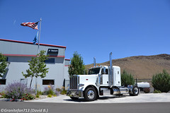 Peterbilt 388 Sleeper Tractor -1  (NV) (Trucks, Buses, & Trains by granitefan713) Tags: tractor sleeper peterbilt newtruck 388 largecar longhood peterbilttruck singleaxle trucktractor peterbilt388 peterbilttractor sleepertractor