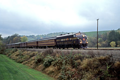Still Dark and Gloomy (craigsanders429) Tags: passengertrains passengercars excursiontrain fp9a ohiocentralrailroad ohiocentral6307