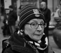 Surprise surprise (Nikonsnapper) Tags: street england hat wales glasses fan rugby candid cardiff olympus international surprise unposed zuiko omd em1 1240mm