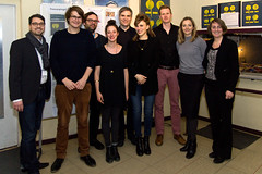 Die FFF Jury mit Preisträgerin Annelie Boros von MARS CLOSER und Moritz Adlon und Felix Pflieger von WAS WIR TUN WENN WIR ALLEIN SIND (Lobende Erwähnung)