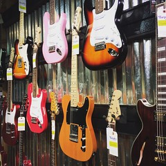 Wall of guitars (Cameron_Talley) Tags: music electric waco guitar fender tarpleymusic