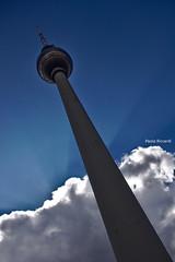 Berlin Fernsehturm in color (RoyBatty83) Tags: berlin clouds pentax fernsehturm cloudysky k5 berlintvtower tappo kitlenses pentaxkitlense berlinstreets pentaxkitlenses pentaxiani pentaxda1855wr pentaxk5 pentaxda1855alwr berlinmonuments