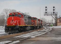 Canadian Cab's Abound (Joseph Bishop) Tags: railroad cn train track tracks rail railway trains rails railfan brantford emd 435 5291 sd402w cndundassubdivision