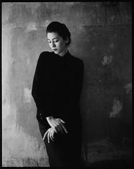 Girl from Georgia (Radoslaw Pujan) Tags: portrait black film analog georgia pentax kodak 6x7 tbilisi