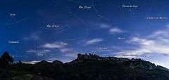 Constelacin de Estrellas desde Montserrat (MrDaVidU) Tags: barcelona pano panoramica estrellas constelacin montserrat nocturna catalunya jirafa osamayor coronaborealis osamenor perrosdecaza
