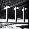 Light and Shadow (brentus69) Tags: park light shadow blackandwhite bw canada nikon crosses alberta d4 elkislandnationalpark astotinlake nikond4 niksilverefexpro