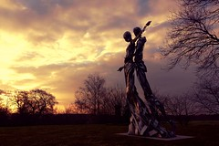 First dance (jeannie debs) Tags: sculpture art love nature clouds landscape countryside dance couple first explore