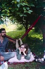 susana, august 2014 (Tefilo de Sales) Tags: park friends summer green film portugal analog 35mm 50mm nikon picnic kodak expired nikkormat analogic kodak200 nikkormatel terroso