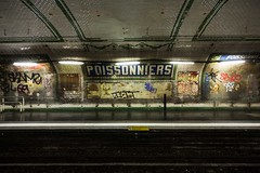 Poissonniers station on the Paris Metro (Cycle the Ghost Round) Tags: city travel urban paris france color green beautiful french grey colorful ledefrance awesome country dramatic international stunning parismetro typical adjectives fabulous description parisian rpubliquefranaise rgionparisienne canonef24105mmf4lisusm canon5dmarkiii