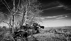 the daily grind.... (BillsExplorations) Tags: abandoned rural truck vintage rust decay farm forgotten discarded thursday grinder ruraldecay farmmachinery cornsheller truckthursday