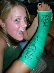 skullcast1 (cb_777a) Tags: usa broken foot toes leg cast ankle