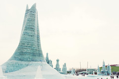 Ice Castles in the Sky (Meeg.E) Tags: china winter white snow cold travelling castle ice year freezing backpacking abroad  sculptures harbin