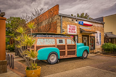 Texas Surf Museum (Jims_photos) Tags: museum clouds outside vintagecar texas adobephotoshop cloudy outdoor antiquecar memories daytime oldcar lightroom oldmemories jimallen corpuschristitexas adobelightroom