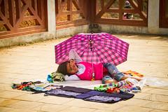 Hiding from the sun (Josh Hickinbotham) Tags: girl vietnam sapa hmong