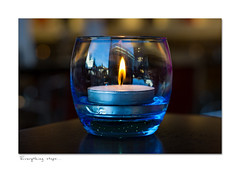 Everything stops... (hehaden) Tags: table sussex brighton candle flame candleholder carluccios