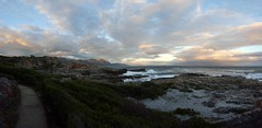 Hermanus (TareqD) Tags: africa sunset sea sky panorama cliff cloud beach rock hermanus bay flickr view south vista whales