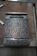 Early lead type typesetting (quinet) Tags: belgium antique printing antwerp ancien 16thcentury 1550 antik plantinmoretusmuseum drucken leadtype