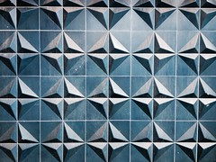 image (Kathi Huidobro) Tags: blue urban london architecture triangles facade 3d pattern architecturaldetail patterns textures tiles pyramids tiling 3dtiles architecturaltiles