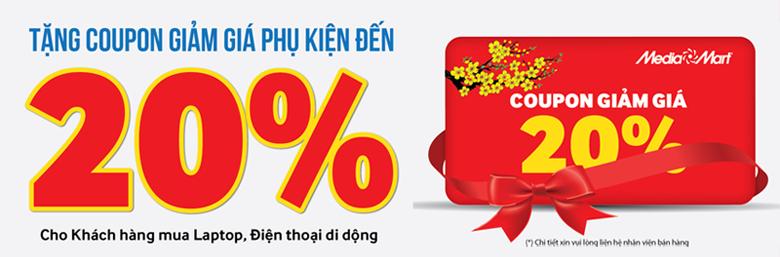 Tặng Coupon giảm giá đến 20% khi mua Phụ kiện