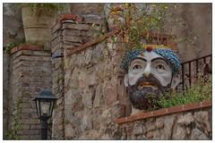 Ceramic Head, Taormina (junepurkiss) Tags: italy ceramic sicily taormina ceramichead ceramicplantpot