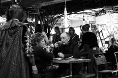 Drink in Peace (clickclickphotographyuk) Tags: life street blackandwhite white black coffee monochrome mono market drink candid drinking copyrightaaronjcollyer2016