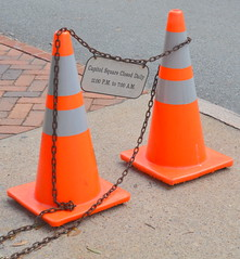 CapitolSquareCones (T's PL) Tags: virginia nikon chain va richmondva capitolsquare orangecones d7000 tamron18270 nikond7000 tamron18270f3563diiivcpzd virginiacapitolsquare