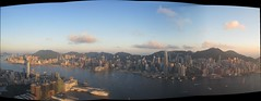 Hong Kong Island at dusk (JohnSeb) Tags: china city autostitch panorama composite hongkong harbour dusk metropolis johnseb asia2013